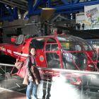 záchranný vrtulník spolu so zábermi jeho využitia
