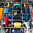 exponáty jednotlivých častí auta